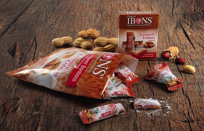Sorte IBONS® Ingwer Erdnuss auf Holz
