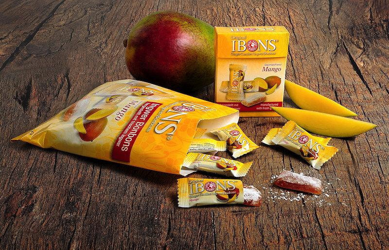 Sorte IBONS® Ingwer Mango auf Holz