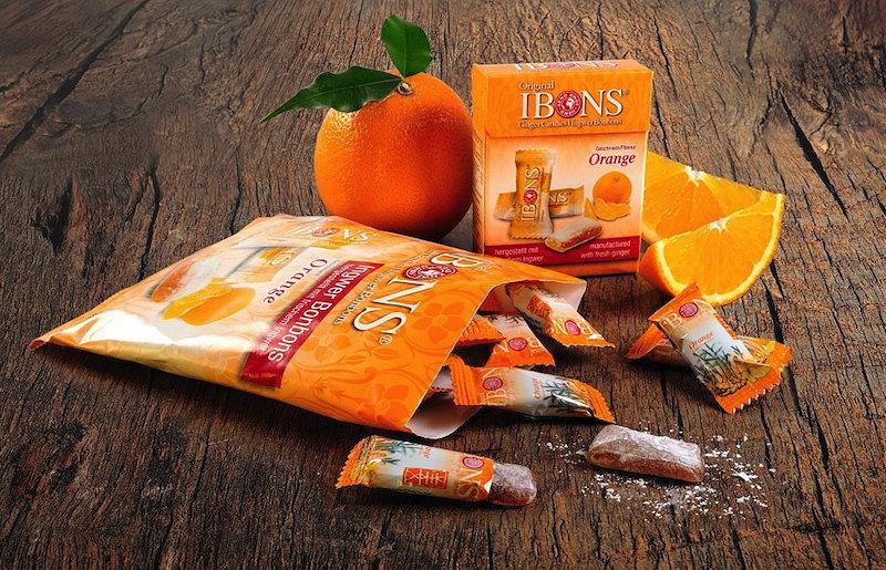 Sorte IBONS® Ingwer Orange auf Holz