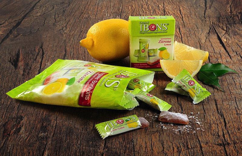 Sorte IBONS® Ingwer Zitrone auf Holz